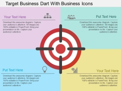 Target Business Dart With Business Icons Powerpoint Template