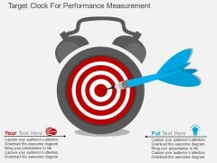 Target Clock For Performance Measurement Powerpoint Template