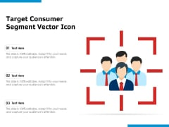 Target Consumer Segment Vector Icon Ppt PowerPoint Presentation Infographic Template Icon PDF