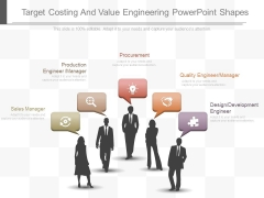 Target Costing And Value Engineering Powerpoint Shapes