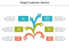 Target Customer Service Ppt Powerpoint Presentation Summary Sample Cpb