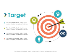 Target Four Icons Ppt Powerpoint Presentation Pictures Templates