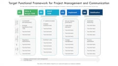 Target Functional Framework For Project Management And Communication Elements PDF