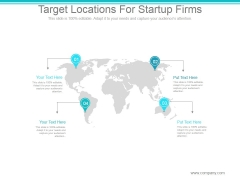Target Locations For Startup Firms Ppt PowerPoint Presentation Deck
