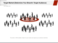 Target Market Determine Your Brands Target Audience Ppt PowerPoint Presentation Infographic Template File Formats