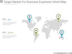 Target Market For Business Expansion World Map Ppt PowerPoint Presentation Topics