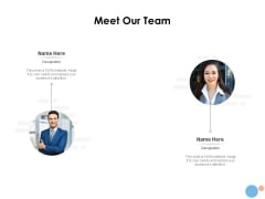 Target Market Meet Our Team Ppt Visual Aids Example 2015 PDF