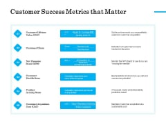Target Market Segmentation Customer Success Metrics That Matter Ppt PowerPoint Presentation Professional Samples PDF