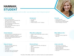 Target Market Segmentation Hannah Student Ppt PowerPoint Presentation Infographic Template Rules PDF