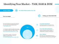 Target Market Segmentation Identifying Your Market TAM SAM And SOM Ppt PowerPoint Presentation Summary Guidelines PDF