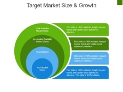 Target Market Size And Growth Ppt PowerPoint Presentation Inspiration Vector