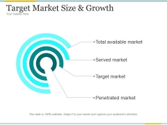 Target Market Size And Growth Ppt PowerPoint Presentation Introduction