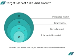 Target Market Size And Growth Template 1 Ppt PowerPoint Presentation Clipart
