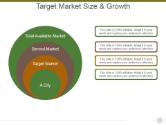 Target Market Size And Growth Template 1 Ppt PowerPoint Presentation Icon Sample