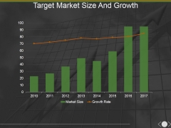 Target Market Size And Growth Template 2 Ppt PowerPoint Presentation Infographics Model