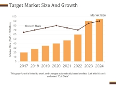 Target Market Size And Growth Template 2 Ppt PowerPoint Presentation Microsoft