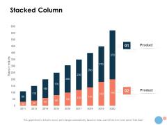 Target Market Stacked Column Ppt Portfolio Shapes PDF