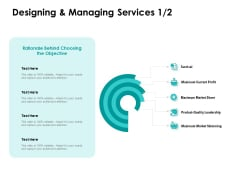 Target Market Strategy Designing And Managing Services Ppt Inspiration Objects PDF
