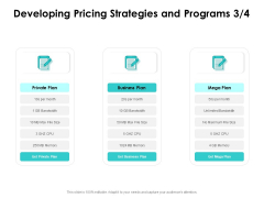 Target Market Strategy Developing Pricing Strategies And Programs Plan Ppt Ideas PDF