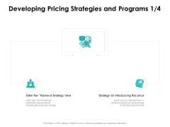 Target Market Strategy Developing Pricing Strategies And Programs Ppt Styles Template PDF
