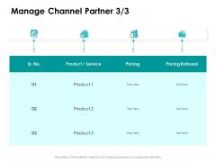 Target Market Strategy Manage Channel Partner Pricing Ppt Guide PDF