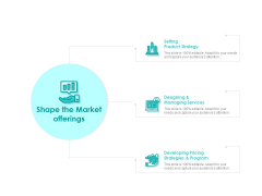 Target Market Strategy Shape The Market Offerings Ppt Gallery Diagrams PDF