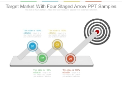 Target Market With Four Staged Arrow Ppt Samples