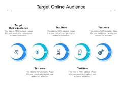 Target Online Audience Ppt PowerPoint Presentation Professional Template Cpb