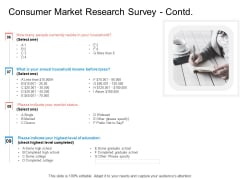 Target Persona Consumer Market Research Survey Contd Taxes Ppt Summary Background Designs PDF
