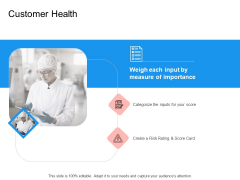Target Persona Customer Health Ppt Icon Example PDF