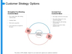Target Persona Customer Strategy Options Ppt Professional Example PDF