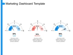 Target Persona Marketing Dashboard Template Ppt Layouts Design Inspiration PDF
