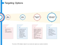 Target Persona Targeting Options Ppt Outline Format Ideas PDF