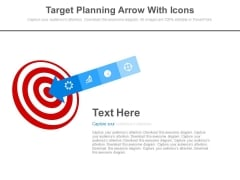 Target Planning Arrow With Icons Powerpoint Slides