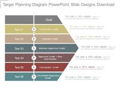 Target Planning Diagram Powerpoint Slide Designs Download