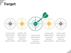 Target Ppt PowerPoint Presentation Gallery Master Slide