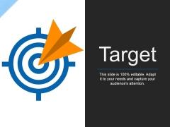 Target Ppt PowerPoint Presentation Infographics Mockup