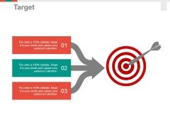 Target Ppt PowerPoint Presentation Inspiration Brochure