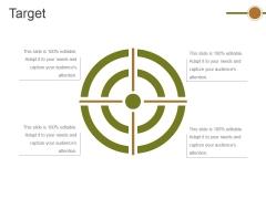 Target Ppt PowerPoint Presentation Summary Demonstration
