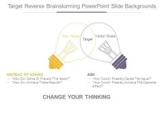 Target Reverse Brainstorming Powerpoint Slide Backgrounds