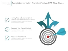 Target Segmentation And Identification Ppt Slide Styles