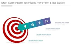 Target Segmentation Techniques Powerpoint Slides Design