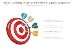 Target Selection Purpose Powerpoint Slides Templates