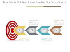 Target Selection With Result Analysis Powerpoint Slide Designs Download