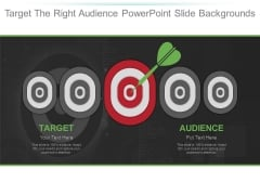 Target The Right Audience Powerpoint Slide Backgrounds