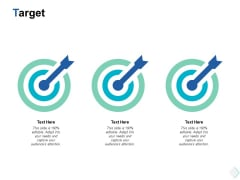 Target Three Arrow Ppt PowerPoint Presentation Gallery Objects