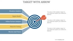 Target With Arrow Ppt PowerPoint Presentation Infographics