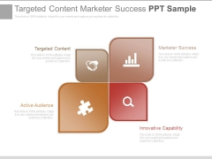 Targeted Content Marketer Success Ppt Sample
