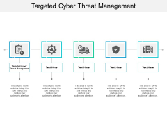 Targeted Cyber Threat Management Ppt PowerPoint Presentation File Example Topics Cpb
