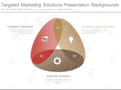 Targeted Marketing Solutions Presentation Backgrounds